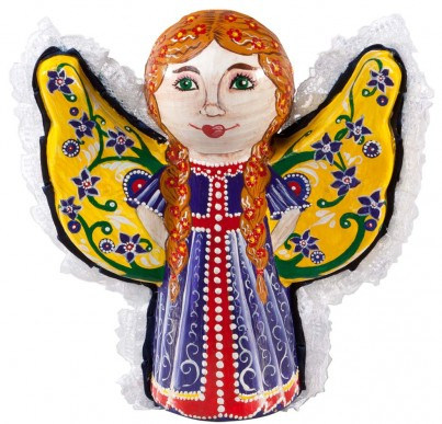 The finished product; just one of the many ways you can decorate your Angel with Wings!