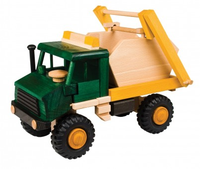 Uniwood wooden toy Skip truck 1 of 4 set (1)