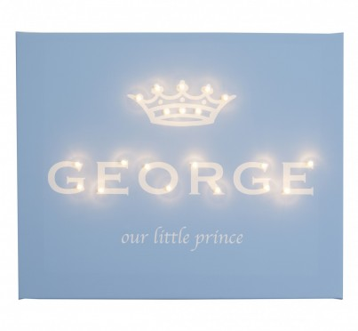 Our Little Prince - Personalised - Illuminated Canvas