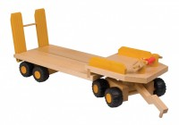 Uniwood Low Loader wooden toy trailer