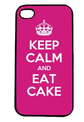 Keep Calm and Eat Cake IPhone Case Will Fit iPhone 4, 4s & 5