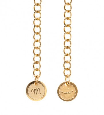 Rose Gold Plated Moustache Macaroon Necklace