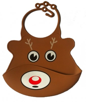 Catch All Baby and Toddler Bib - Reindeer
