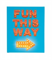 Fun This Way Bright Blue - Large - Illuminated Canvas Night Light