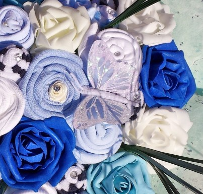Blue Sensation Baby Boy Bouquet - Deluxe 0-3 or 3-6 months