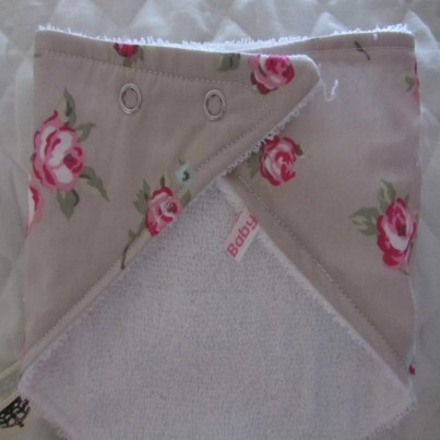 Vintage rose bandana bib for babies and toddlers