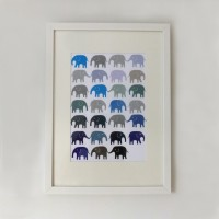 Navy and Grey Elephants