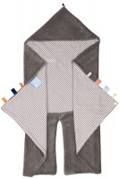 Organic Happy Days Wrap Blanket-Hippo Grey