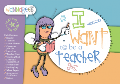 Teacher role play pack for pretend play includes Register, Stickers, Weather Chart etc