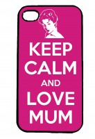 Keep Calm and Love Mum IPhone Case Will Fit iPhone 4, 4s & 5
