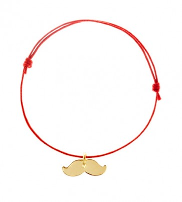 Gold Plated Lucky Charm Moustache Bracelet