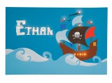Pirate Ship - Personalised Illuminated Canvas