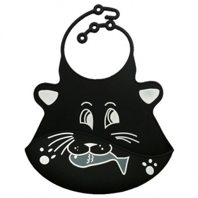 Catch All Baby and Toddler Bib - Ceri Cat