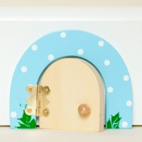 Sky Blue Dotty Fairy door