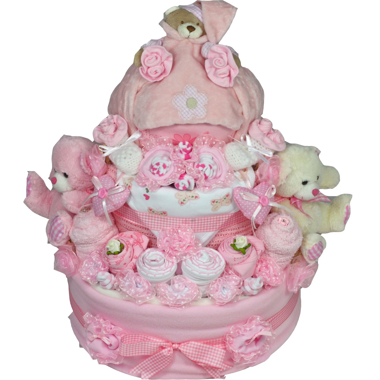 Luxury Baby Girl Or Boy 3 Tier Nappy Cake In 0 6 Months Corporate