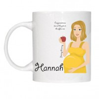 Blonde haired Mother to be / Yummy Mummy Mug - can be personalised with your own text & pictures.
