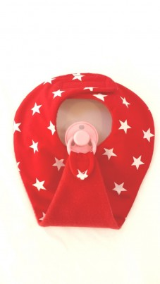 Red star dummy bib
