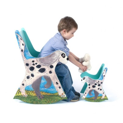 Bumble the Dog Child's Rocking Chair & Doll Sized Bumble the Dog Chair