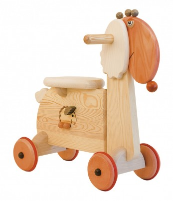 Molly Sheep wooden ride on toy by Janoschik J111F side view