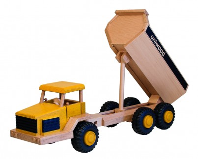 Uniwood Big 6 wheeled  Dumper wooden toy truck U14008 moving parts