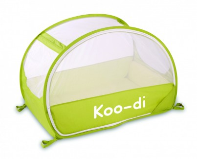 POP UP TRAVEL BUBBLE COT - LEMON & LIME