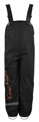 Koster Rain Dungarees Unlined Black/Orange