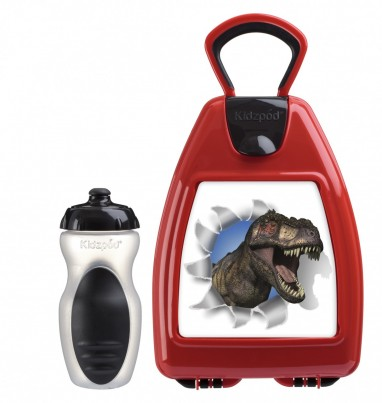 Red lunchbox with Dinosaur