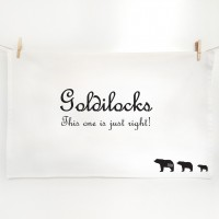 Goldilocks and the Three Bear Tea towels - Just Right
