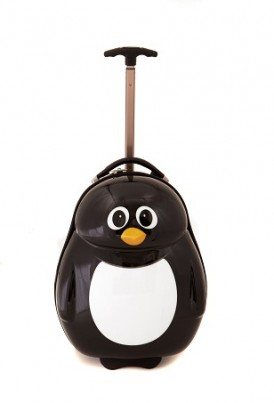 Peko the penguin Cutie hard trolley case and back pack set from the Cuties and Pals