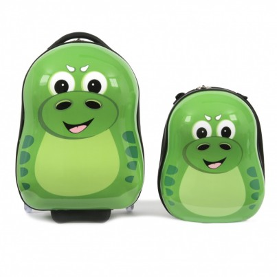 P-Rex the Dinosaur Cutie Hard Trolley case and back pack set from the Cuties and Pals