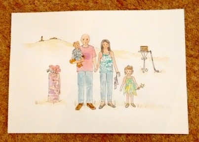 Family Watercolour Painting