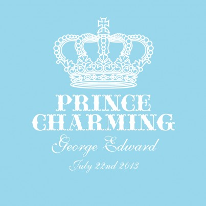 Prince Charming Personalised Canvas