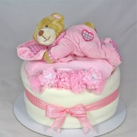 Sleepy Little Bear 1 Tier Nappy Cake in 0-3 or 3-6 months
