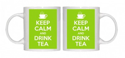 Copy of Keep Calm and Drink Tea Mug Personalised With Your Own Text If Preferred