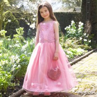 Pink Floral Ballgown Costume