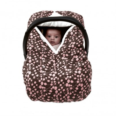 Travel Cover Pink Berries Cosy Car Seat Cover for Group 0 infant car seat