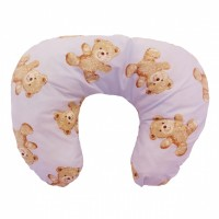 Copy of Multi Purpose Nursery & Feeding Cushion - VINTAGE TEDDY PINK - retro
