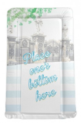 Royal Baby themed  changing mat Place One's Bottom Here - BLUE / BOY'S