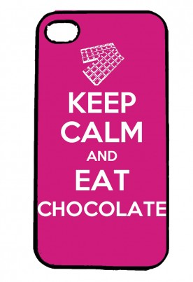 Keep Calm and Eat Chocolate IPhone Case Will Fit iPhone 4, 4s & 5