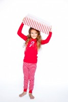 Girls Organic Candy Cotton Long Sleeve Pyjamas