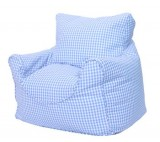 Babyface Blue Gingham Bean Bag Chair