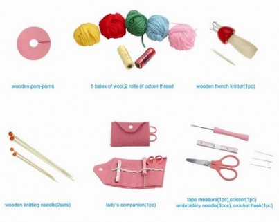 Childrens Knitting Starter Kit : Pompom Making, Knitting, Croche & French Knitting
