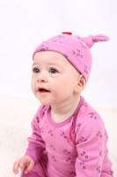 Tilly Pink Organic Cotton Knotted Hat (0-6 months)