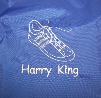 Personalised Name Label Drawstring School Sports Bag for Swimming Dance Shoes