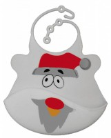 Catch All Baby and Toddler Bib - Santa