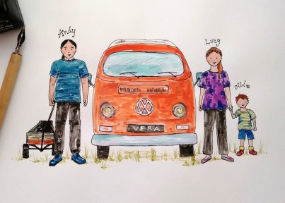 Personalised Picture with Campervan
