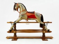 Medium Ayresa rocking horse on beech stand