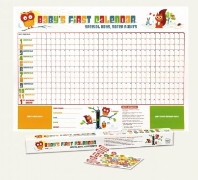 Includes wall chart, milestone stickers, thermometer and keep sake box.