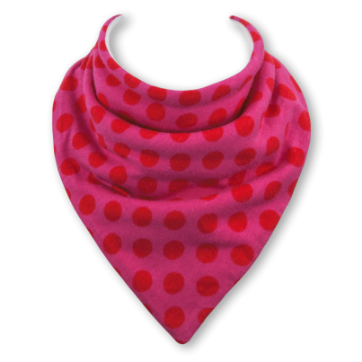 Poppy Pink dribble bib (BABBLE BIB)