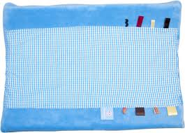 Organic Happy Days Changing Mat Cover-Blue